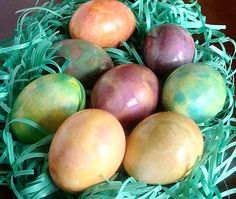 Dying Easter Eggs: How to Dye Easter Eggs with food color.