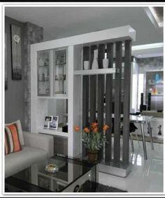 Bedroom Small Wall Room Dividers Ideas For 2019 Living Room Partition, Room Partition Designs, Partition Ideas, Wall Partition, Living Room Modern, Living Room Designs, Interior Decorating, Interior Design, Dining Room Walls