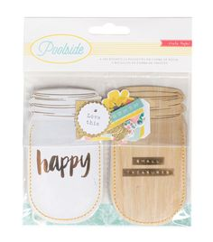 Crate Paper - Poolside Collection - Jar Pockets with Foil and Glitter Accents at Scrapbook.com