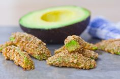 Slice up avocado, slather it in breadcrumbs, and bake until crispy - these healthy & baked avocado fries are impossible to resist!