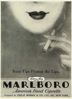 Marlboro Cigarette Ad - 1930's. @designerwallace