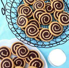 Biscoito laminado de baunilha e chocolate