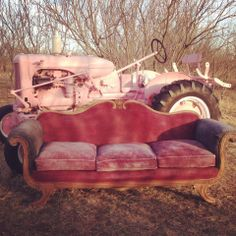 We could do this with our antique tractor!  Crystal and Crates Vintage Rentals