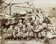 Children of Bear Island • Nomad Sami Children Northern Sweden Norway late 1800 or early 1900 eds