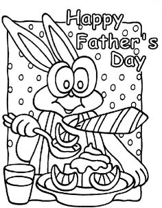 Fathers Day Tie Coloring Page