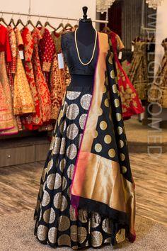 pure banarasi brocade fabrics wedding lehenga choli for women indian bridal party wear lengha sari heavy brocade Lehenga Choli, Brocade Lehenga, Black Lehenga, Lehenga Blouse, Bridal Lehenga, Banarsi Saree, Bollywood Lehenga, Sabyasachi, Pakistani Bridal