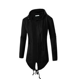 Men's Long Line Sweatshirt Hooded Outerwear Male Hip Hop Streetwear Long Hoodies Clothing Cool Men Sweatshirts Moleton Masculino