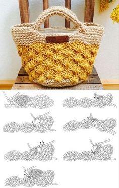 Escolha e copie: 18 Modelos de bolsa Summer Bag ⋆ De Frente Para O Mar - Uncinetto - Motivi Per Uncinetto Crochet Basket Pattern, Crochet Tote, Crochet Handbags, Crochet Purses, Crochet Baby, Knit Crochet, Crochet Patterns, Crochet Summer, Crochet Bag Tutorials