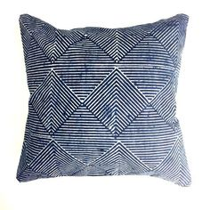 Decorative Pillows Contemporary Contemporary Rekha Navy Blue Cotton Pillow For Sale - Image 3 of Navy Blue Throw Pillows, Blue Decorative Pillows, Accent Pillows, Swatch, Animal Rug, Contemporary Home Decor, Contemporary Pillows, Quilted Pillow, Pillow Sale