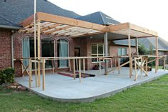 The wooden pergola is a good solution to add beauty to your garden. If you are not ready to spend thousands of dollars for building a cozy pergola then you may devise new strategies of trying out something different so that you can re Pergola With Roof, Wooden Pergola, Patio Roof, Back Patio, Pergola Patio, Pergola Plans, Pergola Kits, Backyard Patio, Pergola Ideas