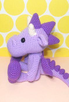 PDF  Dragon Crochet Pattern Dragon Amigurumi Amigurumi