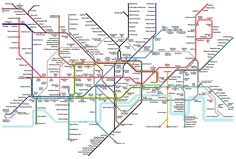 Another design classic - London's Underground map. (The old one, not the confusing new one)