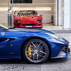 Ferrari F12 and F40