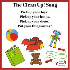 Clean Up Pick Up Songs On Pinterest Clean Up Song