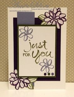 Lavender Thoughts | Annette Sullivan | Stampin' Up! Watercolor Words Artichoke Eggplant