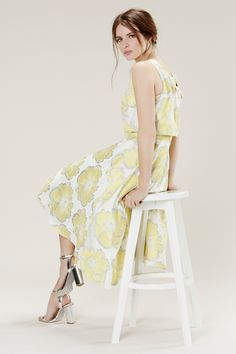 Buy Coast Floral Jacquard Whistan Dress, Yellow from our Women's Dresses Offers range at John Lewis & Partners. Plus Size Bridesmaid, Bridesmaid Dresses, Floral Bridesmaids, Pastel Floral Dress, Pastel Dresses, Summer Wedding Outfits, Dress Wedding, Pastel Yellow, Feminine Dress