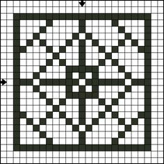 Free Cross Stitch Square Cross Stitch Patterns: Free Sideways Square Counted Cross Stitch Pattern - Free Printable Chart