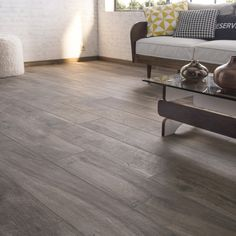 the living room is warmer with dark wood floor tiles Flooring, Home Decor Kitchen, Luxury Kitchen Modern, Home Decor Inspiration, Wood Tile, Home Remodeling, Wood Tile Floors, Wood Floors, Home Decor
