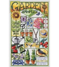 Janlynn Garden Sampler Counted Cross Stitch Kit: counted cross stitch kits: cross stitch: needle arts: Shop   Joann.com