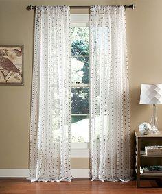 Look at this #zulilyfind! White & Purple Polka Dot Sheer Window Curtain - Set of Two #zulilyfinds