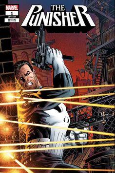 Punisher Vol 12 # 1 (Marvel - Variant cover by classic Punisher artist Mike Zeck Marvel Comics Superheroes, Marvel Comic Books, Comic Books Art, Punisher Comic Book, Punisher Comics, Comic Book Artists, Comic Book Characters, Marvel Characters, Spiderman