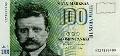 100 Finnish Markkaa, Jean Sibelius 100 markkaa Currency of Finland 100 Finnish Markkaa banknote of issued by the Bank of Fin. Meanwhile In Finland, History Of Finland, Classical Music Composers, Romantic Period, Europe, Old Toys, Helsinki, Nostalgia, Old Things