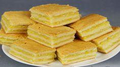 Пирожное с лимонно-апельсиновой начинкой получается невероятно нежное и очень вкуснючее, тесто очень тонкое и мягкое, а начинка просто обалденная