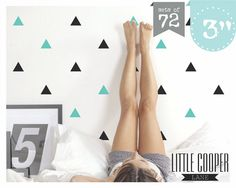Triangles 3 inch  2 Colours  Modern Wall Decal by LittleCooperLane