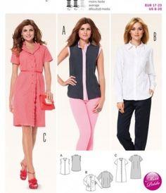 a25584a2e668 robe chemisier - Burda 6954 Robe Chemisier, Couture, Patrons De Robe, Des