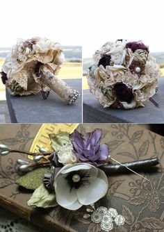 Great Finds – Fabric Bouquets and Boutonnieres » Alexan Events   Denver Wedding Planners, Colorado Wedding and Event Planning