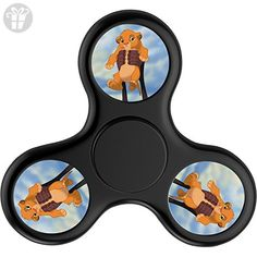 MICHEA DAVIS Play Bubble Spinner Game Mini Tri-spinner Focus Toy Hand Triangle Toys Suitable For Adult And Children The Lion King Disney Black Funny Fidget Spinner Pocket Toy For Killing Time - Fidget spinner (*Amazon Partner-Link)