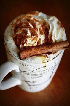 Coffee with cinamon