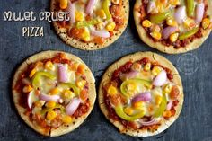 Millet Crust Pizza | Healthy Gluten Free Veggie Pizza | Cooking From Heart Joy Of Cooking, Just Cooking, Millet Recipes, Veggie Pizza, Gluten Free Pizza, Crust Pizza, Food Allergies, How To Cook Chicken, Kitchens