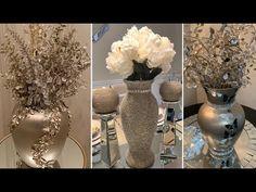 New 2020 Decorating Ideas Nifty Crafts, Diy Home Crafts, Denim And Diamonds, Dollar Tree Decor, Gold Home Decor, Paper Flowers Craft, Diy Candle Holders, Diy Wedding Decorations, Diy Wall Decor