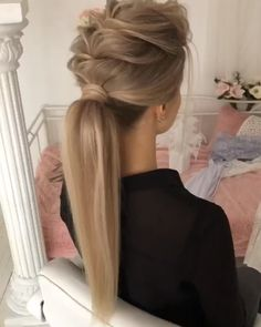 Do you wanna see more fab hairstyle ideas and tips for your wedding? Then, just visit our web site babe! Pretty Hairstyles, Braided Hairstyles, Wedding Hairstyles, Hairstyle Ideas, Hair Crimper, Mid Length Hair, Hair Today, Hair Dos, Hair Lengths