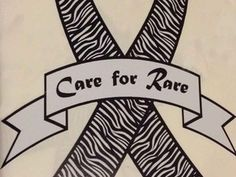 ($5.00) A decal that looks like a rare disease, zebra striped ribbon that says,