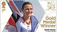 Sarah Storey third gold medal stamp