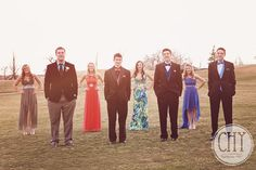 PROM photo idea that highlights the guys. Then switch and do the same with the girls up front