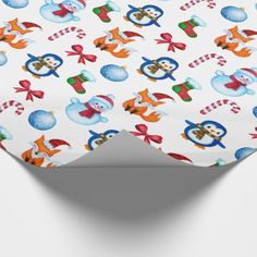 Cute Watercolor Christmas Illustration Pattern Wrapping Paper - pattern sample design template diy cyo customize