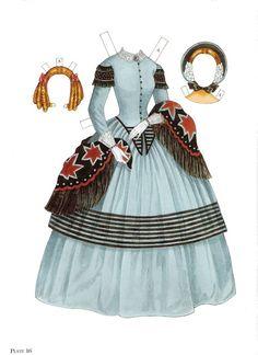 Paper Dolls~Godey's Early Victorian Fashions - Bonnie Jones - Picasa Webalbum* 1500 free paper dolls international artist Arielle Gabriel's The Internatonal Paper Doll Society for paper doll pals at Pinterest *