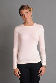 Tops and tees in the Three Dots Fitted Collection are narrower through the body for a slim look. Flat lock stitching adds durability and a unique, sophisticated finish. Three Dots, Back To Basics, Tee Shirts, Tees, Basic Style, Every Woman, Slim, Clothes For Women, Blouse