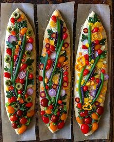 An herby dough with emmer, rye, and spelt and a touch of honey, topped with a garden of delights Bread Art, Rye Bread, Bread Recipes, Baking Recipes, Colorful Vegetables, Artisan Bread, Creative Food, Blondies, Bread Baking