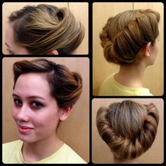 Enjoyable Updo Vintage Updo And My Hair On Pinterest Short Hairstyles Gunalazisus