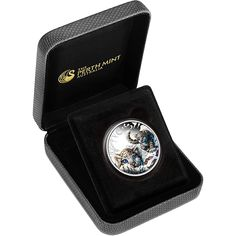 The 2016 Australian The Cubs – Snow Leopard Proof 1/2oz Silver Coin is the third coin in The Cubs 1/2oz silver coin collection from the Perth Mint. Each coin features a coloured snow leopard cub design. The obverse of the coin features the 5th portrait of Queen Elizabeth as well as the year, date and fineness of the coin.  This is the third coin in The Cub series. Each coin is made from 999.0 Fine Silver. Limited edition mintage: 5,000. Diameter: 32.60mm. Struck to Proof quality.