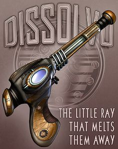 possible design idea for steam punk accessory - Dissolvo Ray Gun