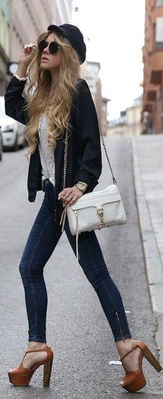 Jessica Simpson Camel Leather Peep Toe Ankle Strap Platform Heels