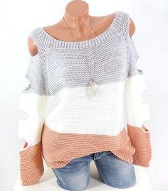 #Strickpullover mit #cutouts dreifarbig #fashion #shopping #style #damen