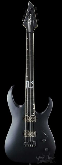 "Jackson Misha Mansoor Juggernaut ""Bulb"" HT6 Matte Black - Wild West Guitars"