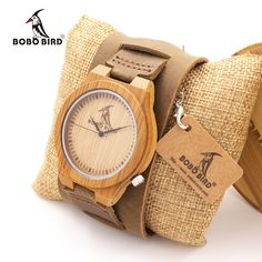 BOBO BIRD Z010 Luxury Brand Design Bamboo Wood Watches Chicago Soft Genuine Dismountable Wide Leather Bands Straps Mens Watch //Price: $46.84 & FREE Shipping //     #hashtag1