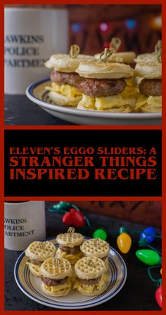 Elevens Egg Sliders A Stranger Things Inspired Recipe The Geeks have created the recipe for Elevens Eggo Sliders perfect for a binge marathon of Stranger Things Things Easy Brunch Recipes, Gourmet Recipes, Appetizer Recipes, Breakfast Recipes, Dessert Recipes, Desserts, Dinner Recipes, Kitchen Recipes, Breakfast Ideas